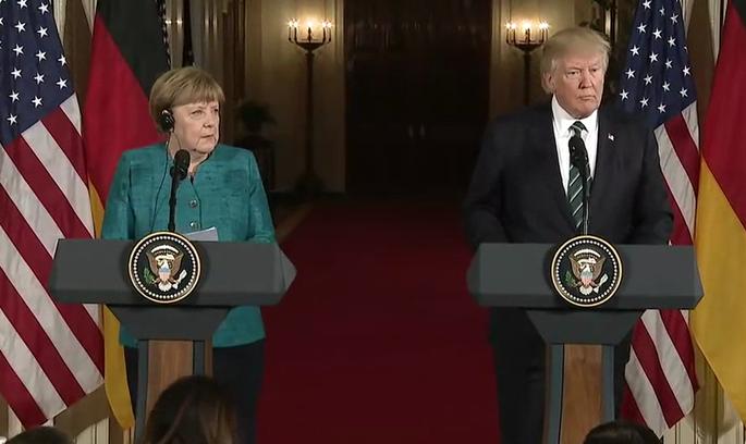 Перша зустріч Меркель і Трампа: відчутна прохолода