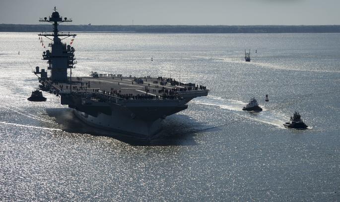 США несподівано розвернули атомний авіаносець в бік Північної Кореї