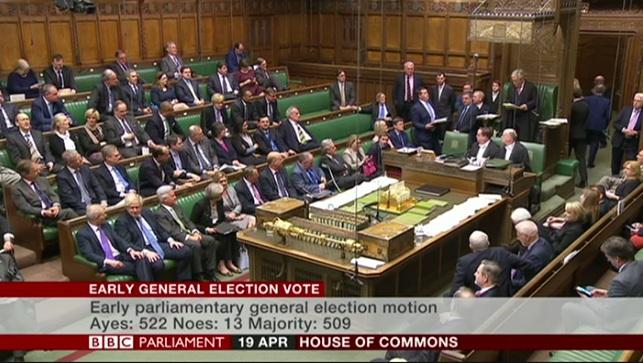Палата Громад схвалила ідею Терези Мей про позачергові вибори