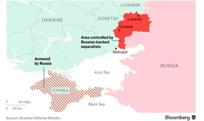 Bloomberg: Путін збирається приєднати Донбас до Росії