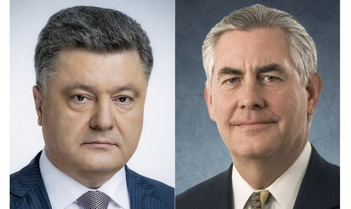 Порошенко запропонував Тіллерсону розмістити на Донбасі миротворців