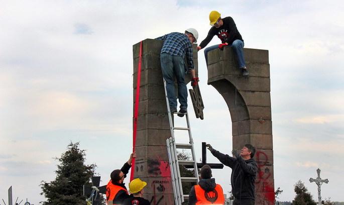 У Польщі знищили пам'ятник воїнам УПА за підтримки влади