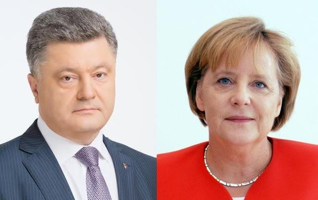Порошенко поговорив з Меркель про ситуацію на Донбасі