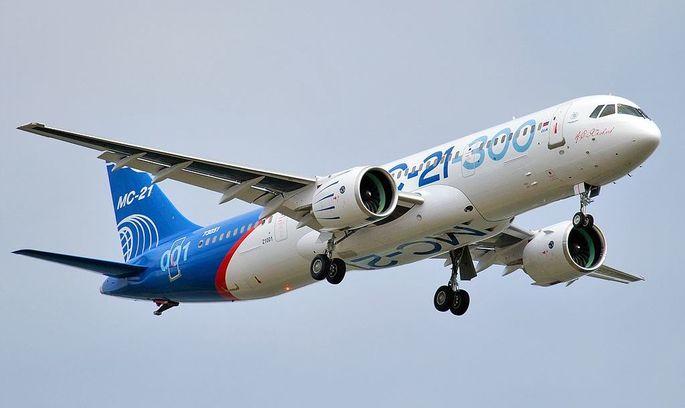 Росія запустила в небо новий середньомагістральний авіалайнер місцевого виробництва
