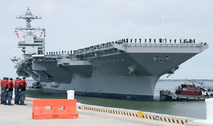 США спустили на воду 1/6 цьогорічного військового бюджету РФ (ВІДЕО)
