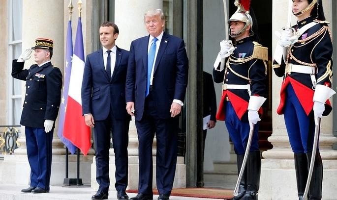 Трамп і Макрон: зустріч двох альфа-самців у Франції