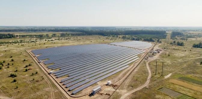 У Київській області запустили сонячну електростанцію
