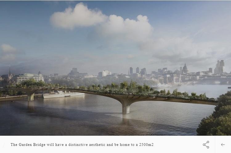Екологічний міст через Темзу, вкритий деревами, не побудують – мер проти