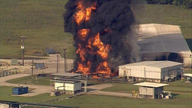 У США палає хімічний завод