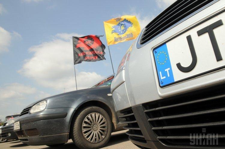 До листопада планується прийняти закон, що забороняє в'їзд нерозмитнених авто з іноземною реєстрацією