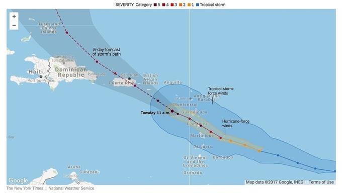 Ураган «Марія» вдарив по Пуерто-Ріко та Домініканській Республіці, щонайменше 10 загиблих