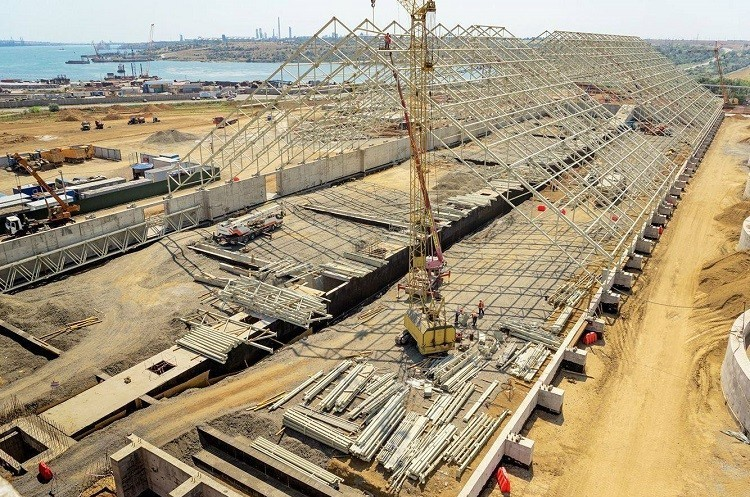 Будівництво зернового терміналу в порту «Южний» буде завершено навесні 2018 року