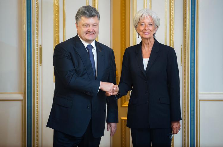 Порошенко та Лагард обговорили боротьбу з корупцією в Україні