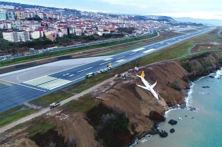 У Туреччині літак з пасажирами виїхав зі злітної смуги у кювет