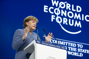Итоги второго дня Давоса: страсти по Трампу, риски торговых войн и жизнеутверждающая Меркель