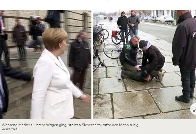 На Ангелу Меркель спробував напасти невідомий чоловік