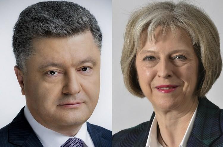 Порошенко та Мей обговорили посилення санкцій щодо РФ