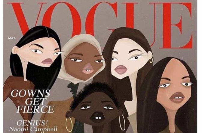 Журнал Vogue використав для обкладинки роботу українського художника