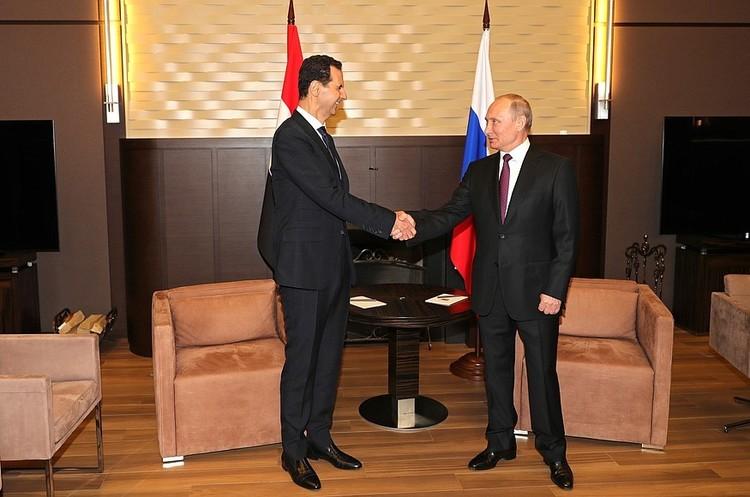 Путін закликає Асада до «політичного процесу», внаслідок якого іноземні війська підуть з Сирії