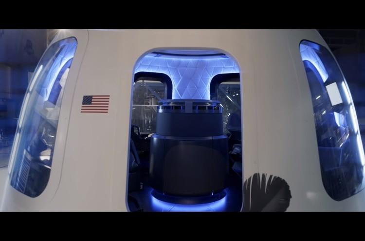 Blue Origin презентувала інтер'єр космічної капсули для туристів (ВІДЕО)