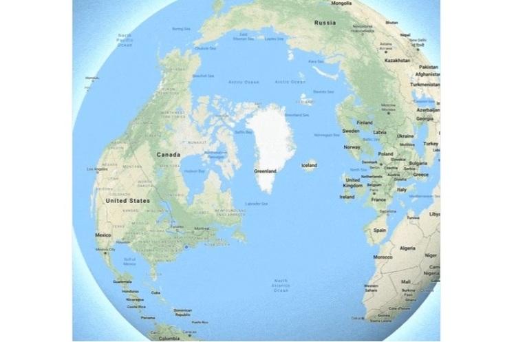 Google Maps тепер показує Землю круглою, а не пласкою
