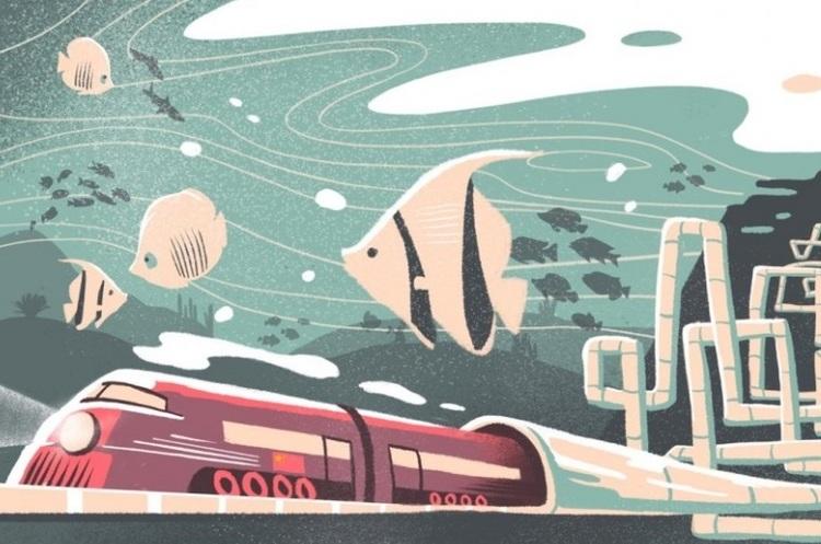 В Китаї збудують найбільший підводний тунель