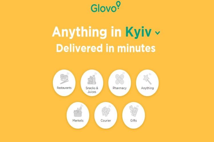 Сервіс доставки Glovo запущено у Києві
