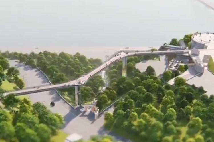 Стало відомо, як виглядатиме новий пішохідно-велосипедний міст у столиці (Відео)