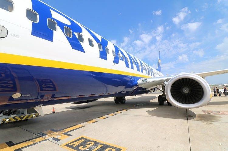 Відсьогодні Ryanair розпочинає виконувати 6 нових рейсів з Києва