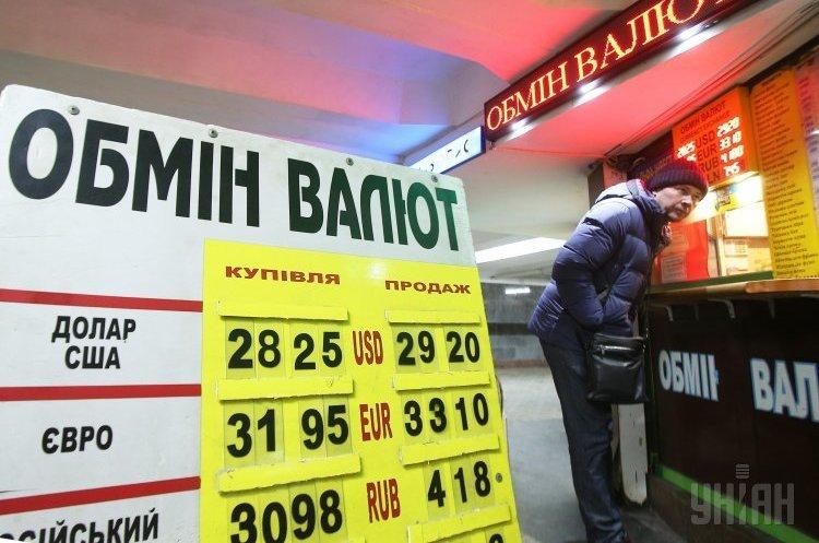 Курси валют на 28 листопада: гривня слабшає