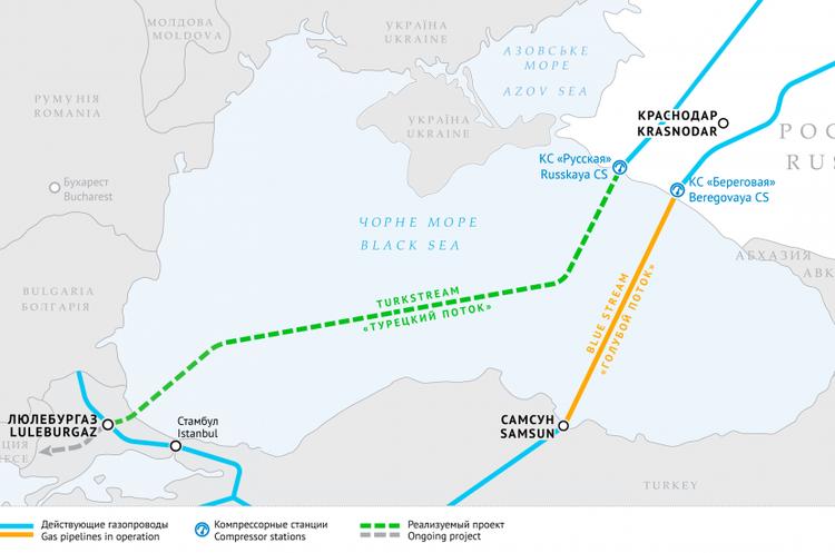 «Газпром» має проблеми з продовженням «Турецького потоку» в Європі