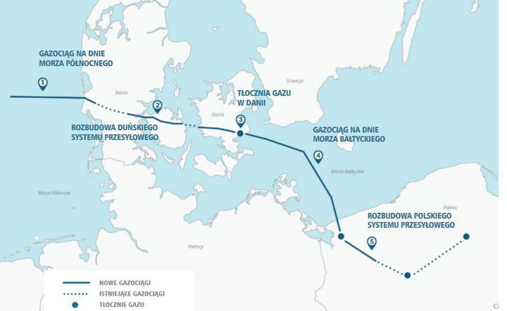 Геть від «Газпрому»: Польща та Данія прокладуть Baltic Pipe і качатимуть газ із Норвегії