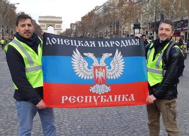 Стало відомо, хто розгорнув прапор «ДНР» на вулицях Парижа під час протестів