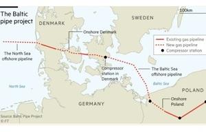 FT: при будівництві Baltic Pipe з Норвегії у Польщу доведеться просити дозволу в «Газпрому»
