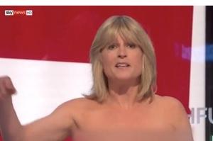 Сестра Бориса Джонсона роздяглася в прямому ефірі на знак протесту проти Brexit