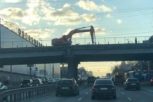 Роботи з демонтажу Шулявсього шляхопроводу у Києві розпочато (ФОТО)