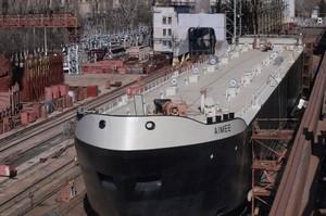 Херсонська верф спустила на воду новий український танкер для голландської компанії