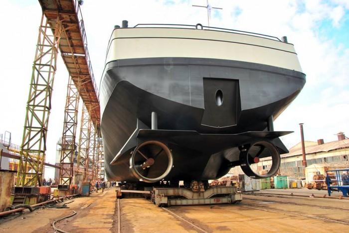 Другий 110-метровий танкер для голландської компанії спустили на воду в Миколаєві