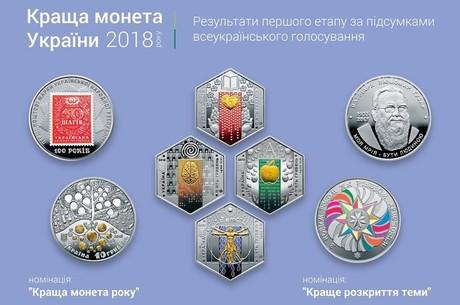 Нацбанк выбрал победителей конкурса «Лучшая монета года Украины»