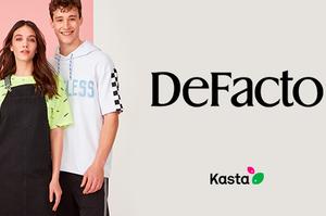 Старт продаж турецкого топ-бренда DeFacto на Kasta. Cкидки до 80%