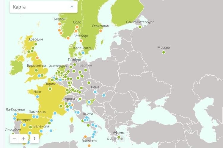 Які міста і країни відмовилися від дизельних і бензинових автомобілів – карта GreenPeace