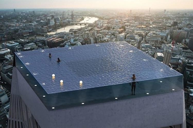 Перший в світі прозорий басейн з 360-градусним оглядом з'явиться в Лондоні