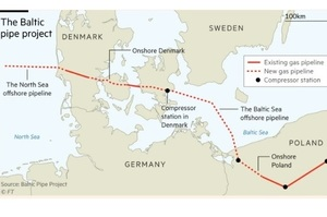 Данія дала дозвіл на прокладання труби Baltic Pipe, яка знизить залежність Польщі від «Газпрому»