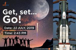 Індія запустила на Місяць ракету з орбітальною станцією та місяцеходом (ВІДЕО)