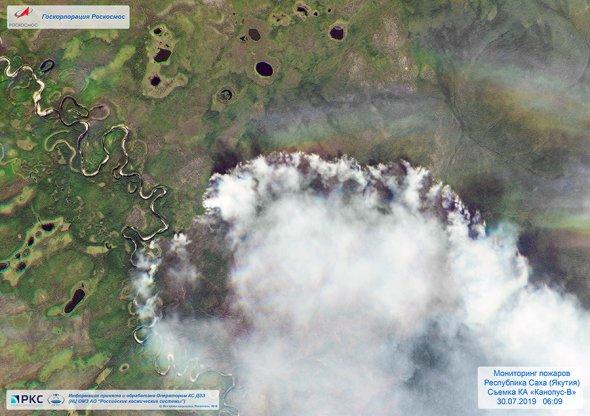 Пожежники виклали в мережу зйомку палаючих сибірських лісів (ВІДЕО)