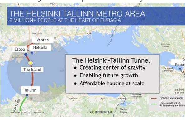 Між Естонією та Фінляндією можуть побудувати найдовший у світі підземний туннель