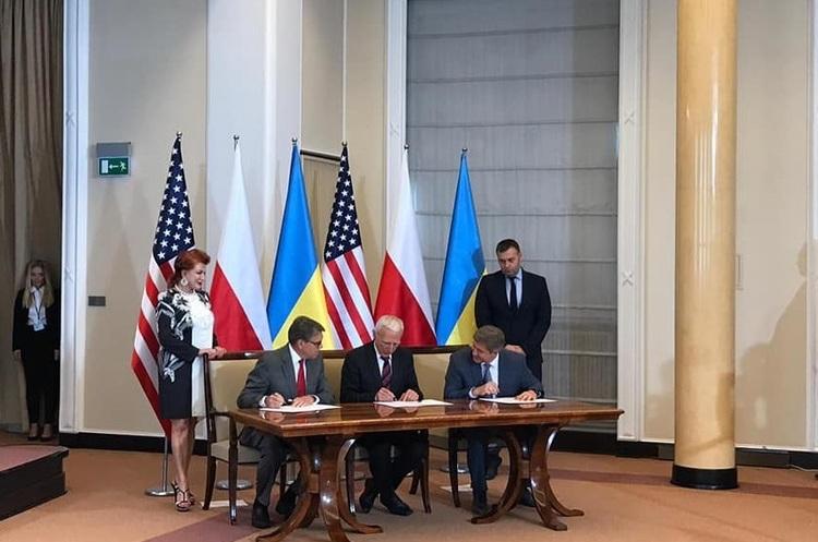 Україна, Польща і США підписали історичний меморандум про газову співпрацю