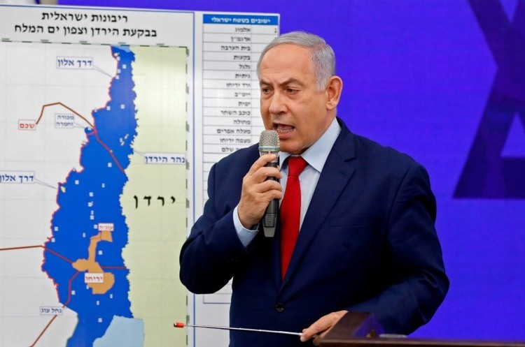 «Повернути Ізраїлю велич»: Нетаньяху заявив претензії на 30% палестинської території