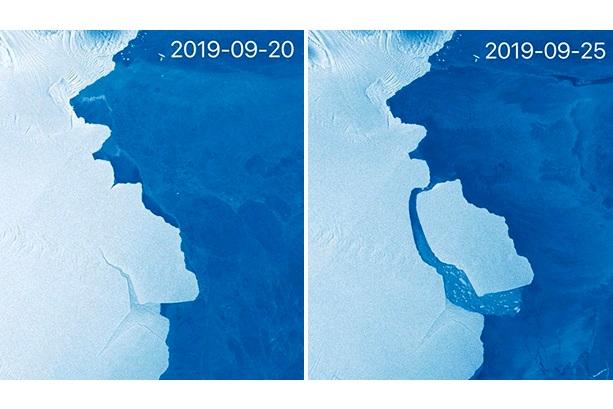 Від Антарктиди відколовся льодовик вагою 315 млрд тонн