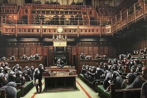 Полотно Бенсі з карикатурою на британський парламент продано з молотка за $12 млн